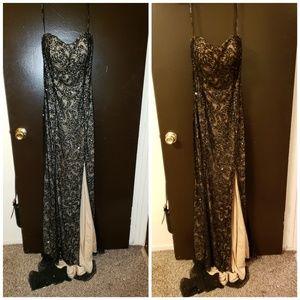 Black and nude Scala dress
